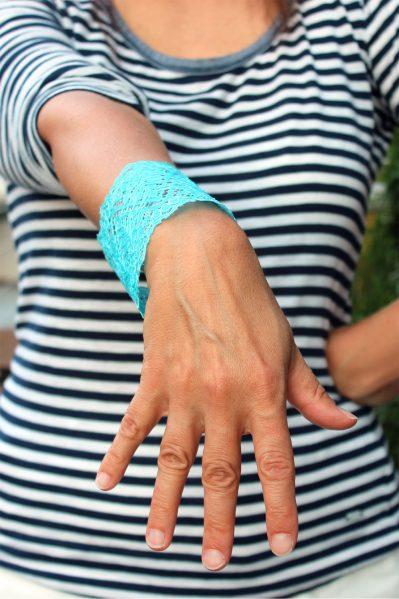 mod podged lace bracelet