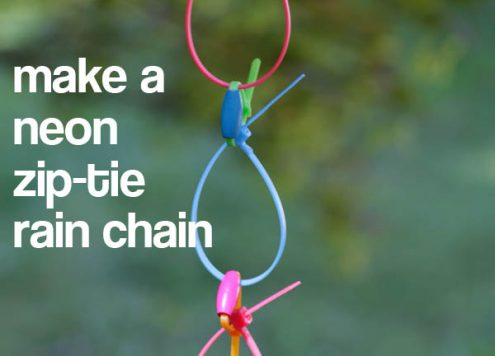 make a neon zip tie rain chain