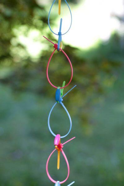 neon zip tie rain chain