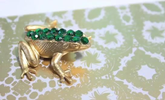 DIY bling frog