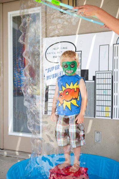 super bubble for superhero party