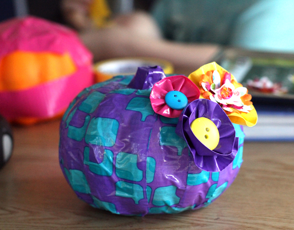 duct tape pumpkin