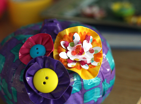 duct tape pumpkin flowers