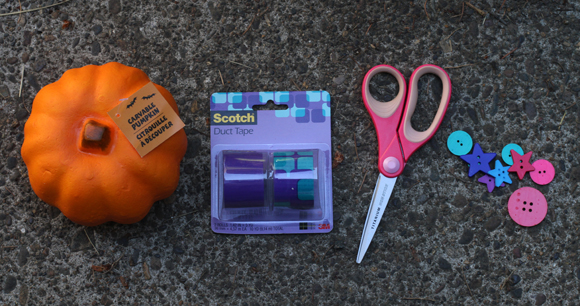 duct tape pumpkin supplies