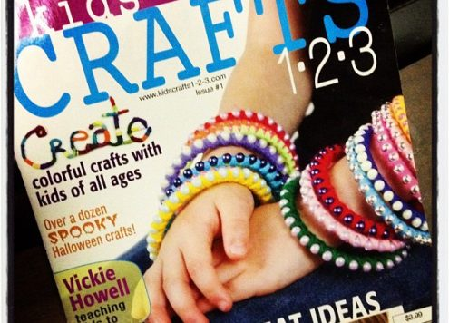 kids crafts 1-2-3 magazine available in the Walmart craft department