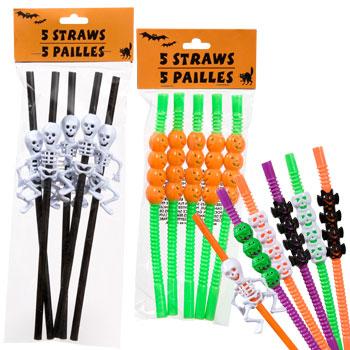 Plastic Halloween Straws