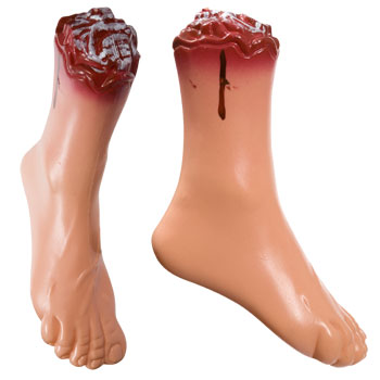 Plastic Severed Feet