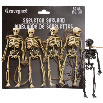 Plastc Skeleton Garland