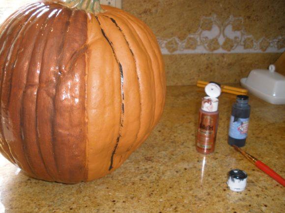 realistic fake pumpkin