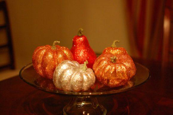 sparkle pumpkin craft