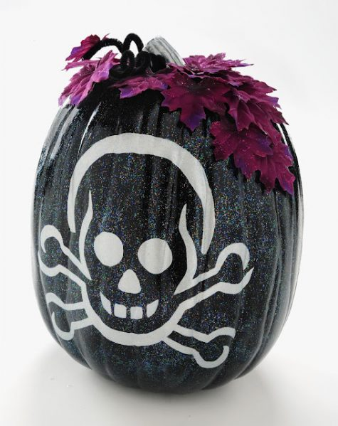 sparkle skeleton mod podge pumpkin