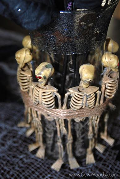 Spooky Skeleton Vase