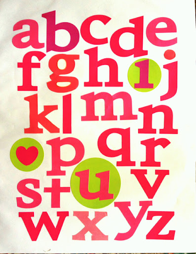Turn alphabet stickers into wall art (via dollarstorecrafts.com)