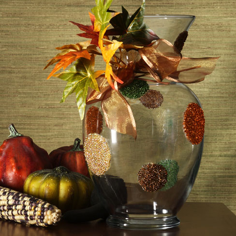 Make a beaded fall vase (via dollarstorecrafts.com)