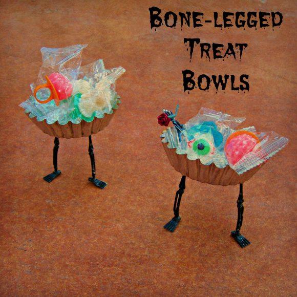 Tutorial:  Bone-Legged Halloween Treat Bowls (dollarstorecrafts.com)