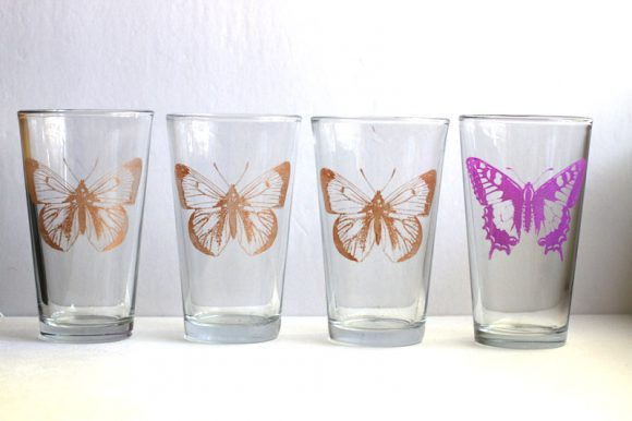 butterfly glasses from dollar store crafts