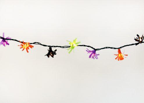 Make a fringed light string