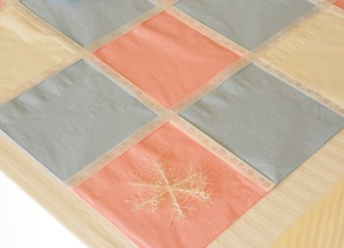 Make a paper napkin table runner (via dollarstorecrafts.com)