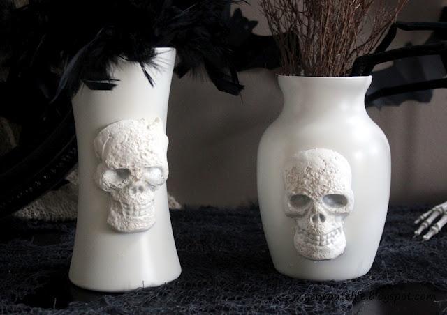 Make Pb Inspired Skull Vases 187 Dollar Store Crafts