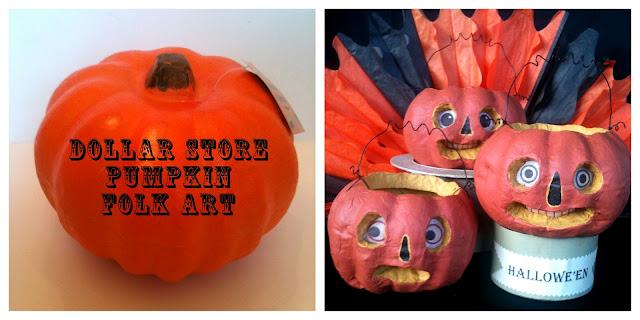 Make folk art pumpkins dollar store crafts