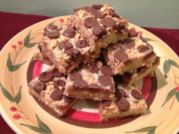 Dollar Store Recipe: Chocolate Caramel Cashew Cookie Bars (and 50+ more sweet treats for the holidays!)