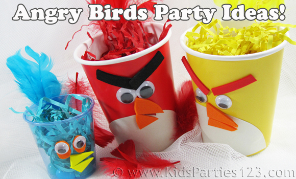Throw an angry birds birthday party dollar store crafts for Angry birds party decoration ideas