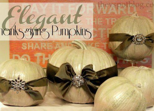 Elegant Pumpkin Centerpiece (via dollarstorecrafts.com)