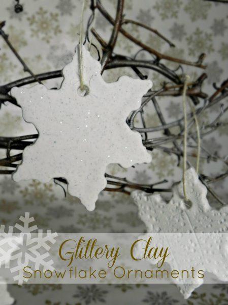 Tutorial: Glittered clay snowflake ornament (via dollarstorecrafts.com)