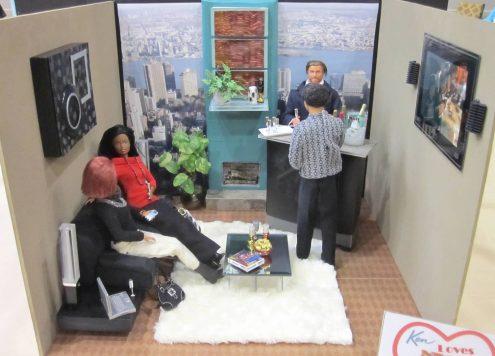Ken's bachelor pad (via dollarstorecrafts.com)