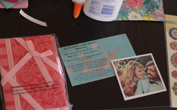 make invitations: bridal shower postcard supplies