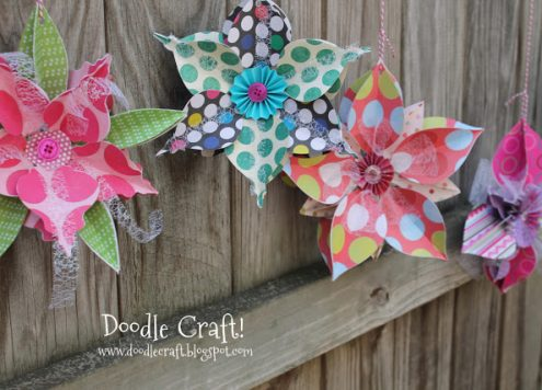 3D Paper Snowflake Banner