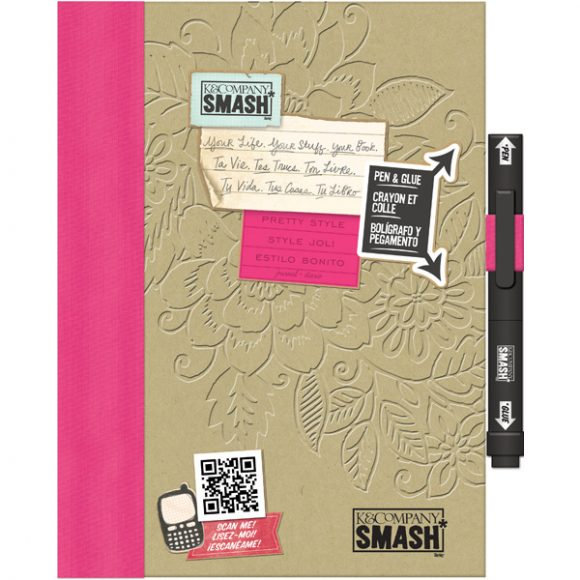pink smash book folio
