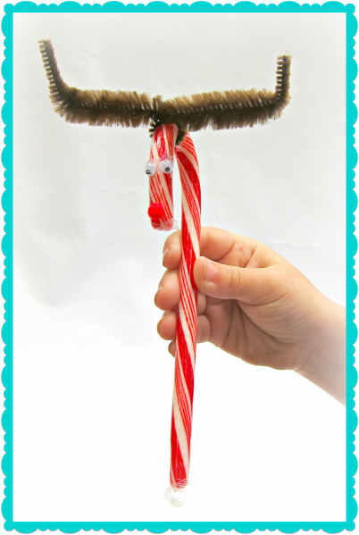 Tutorial: Candy Cane Reindeer Gift (via dollarstorecrafts.com)