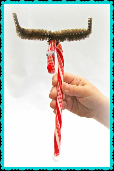 Tutorial: Candy Cane Reindeer Gift (via dollarstorecrafts.com)