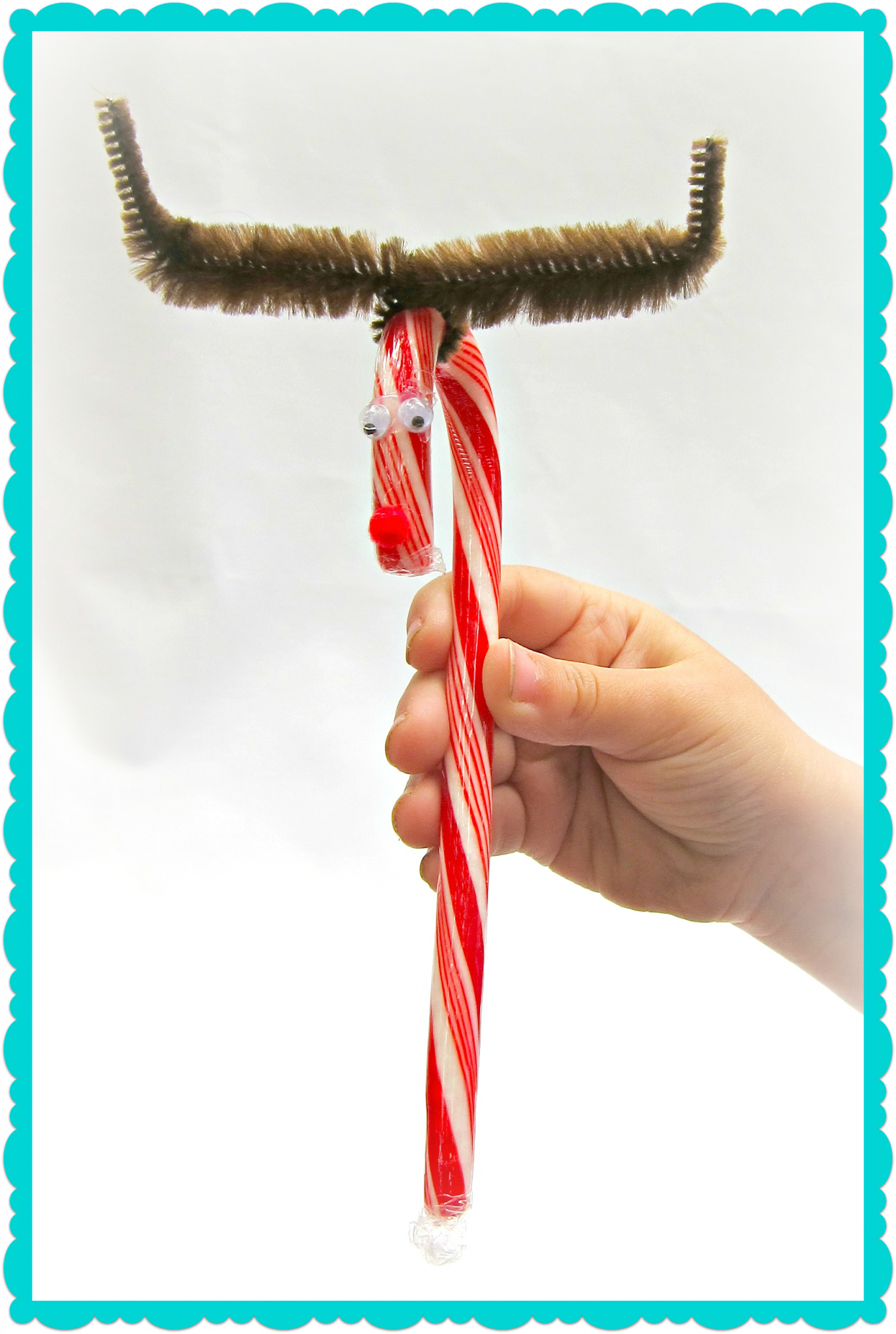 Tutorial make candy cane reindeer gifts dollar store crafts for Easy candy cane crafts