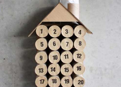 Toilet Paper Roll Craft: Advent Calendar