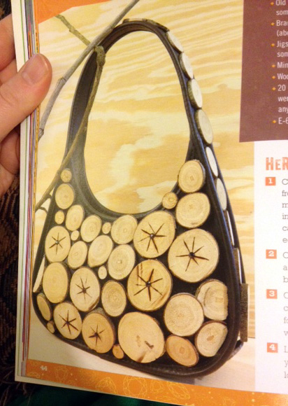 wood rounds purse