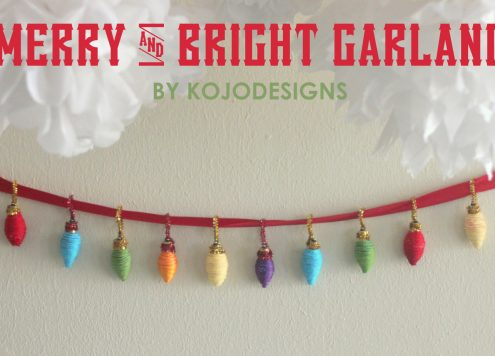 Make a yarn Christmas lights garland (via dollarstorecrafts.com)