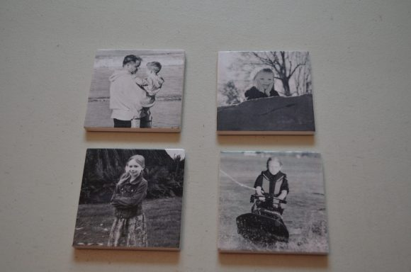Make a coaster photo display