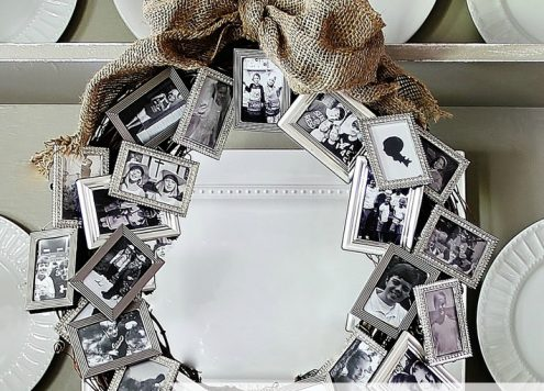 Make a Picture Frame Memory Wreath