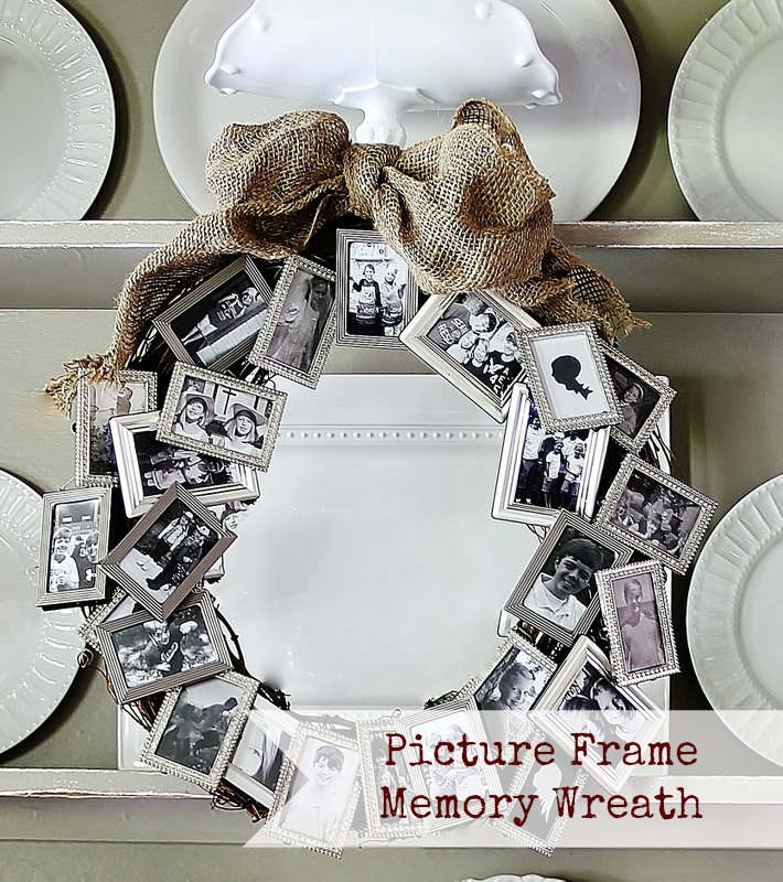 Make a Picture Frame Memory Wreath » Dollar Store Crafts