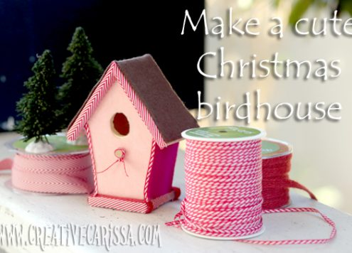Make a Christmas Birdhouse (via dollarstorecrafts.com)