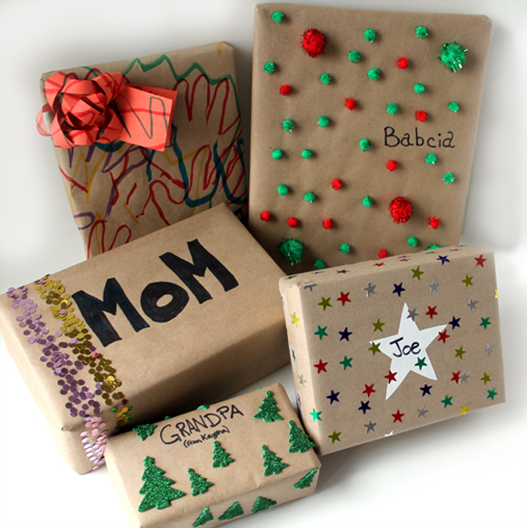 Great Diy Christmas Gift: Five Ways To Wrap Presents With Kids (That Still Look