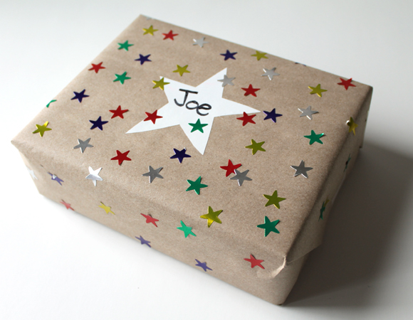 star sticker wrapping paper gift wrap