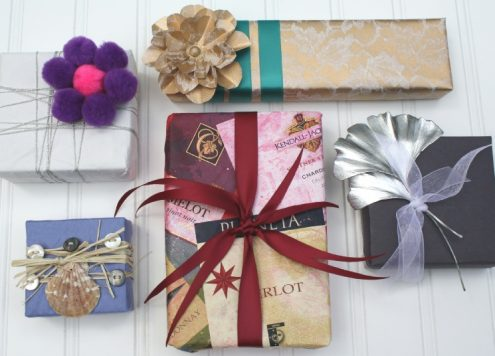 Wrap Gifts Using Construction Paper