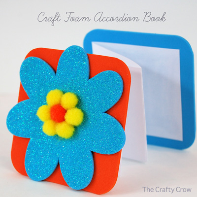 kids craft: craft foam accordion book