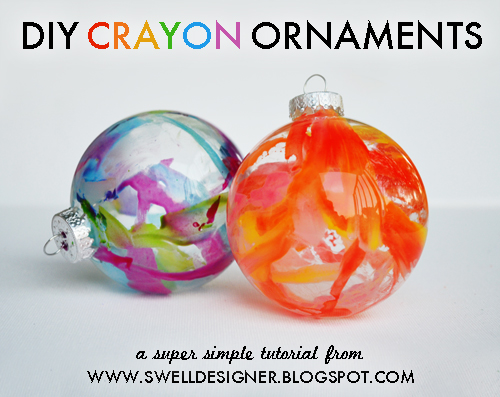 Make Crayon Drip Christmas Ornaments (via dollarstorecrafts.com)