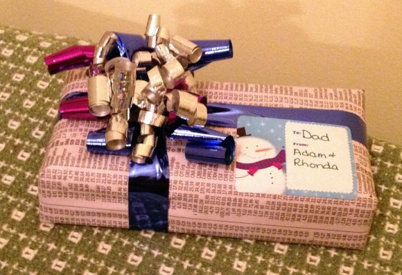 Gift embellished with curling ribbon