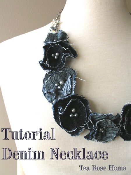 Make a denim flower necklace (via dollarstorecrafts.com)