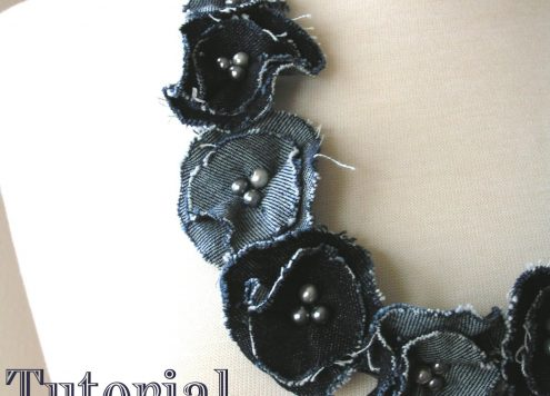Make a denim flower necklace (via dollarstorecrafts.com)